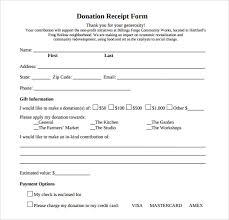 donation receipt forms printable donation receipt template