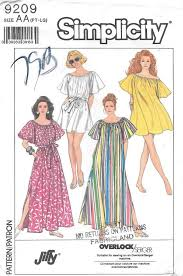 Muumuu Pattern Impressive Simplicity 48 UNCUT Misses Muumuu And Coverup Sewing Pattern