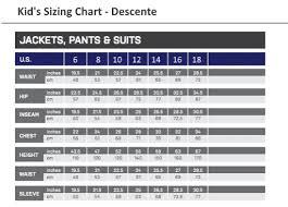 Arcteryx Jacket Size Chart Descente
