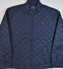 Polo Ralph Lauren Quilted Barracuda Jacket Aviator Navy Tartan ... & Polo Ralph Lauren Jacket Diamond Quilted Coat Navy Mens 4XLT 4XL Tall New  NWT Adamdwight.com