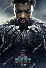 Black Panther 2018 Poster Art Chadwick Boseman Redaktionelles Stockfoto –  Stockbild