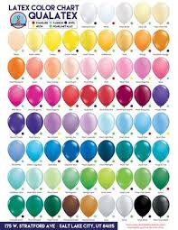 Qualatex Balloons Color Chart Qualatex Color Chart By Us Novelty Issuu