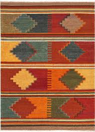 jaipur anatolia byzantium flat weave tribal pattern wool red multi area rug