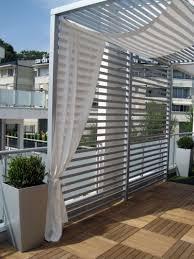 Balkon Mit Holzfliesen Und Sichtschutz Whirpool Terrasse