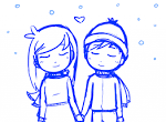 Cute drawings of couples holding hands photo