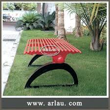 japanese outdoor furniture. Japanese Garden Furniture Cast Iron Outdoor Bench Legs Perforated Backless Metal Frame Waterproof