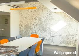 wallpaper for office walls. Custom Postcode/Zipcode Wallpaper Contemporary-home-office For Office Walls