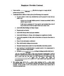 Daycare Contract Template Sample Daycare Contract Template Home Daycare Contracts By