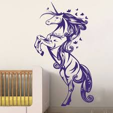 unicorn horse nursery girls bedroom wall decal decor sticker art vinyl wall stickers for kids room on horse wall decor stickers with shop horse room decals on wanelo