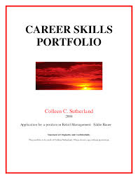 employment portfolio cover page best photos of portfolio cover page examples career