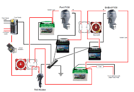 twin outboard 2 batts and wiring hardware suggestions the hull charging batteries in parallel at 2 Bank Marine Battery Charger Diagram