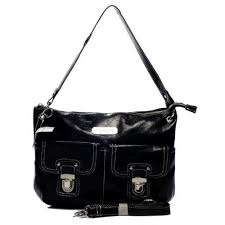 Coach Kristin Lock Medium Black Shoulder Bags 677