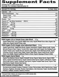perfect food raw organic green super food powder apple 7 9 oz 224g garden of life