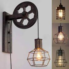 primitive lighting fixtures. Industrial Retro Wall Lamp Single Head Light Lift Pulley Aisle Lighting Primitive Fixtures