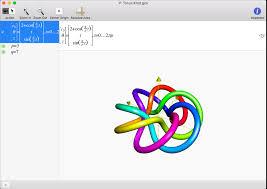 a torus knot 3d graph