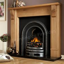 iron inserts bedford cast arched oak fireplace package the