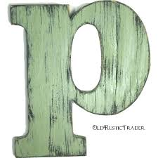 rustic letters for wall wooden hanging p home decor inch large wood letter