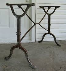 vintage cast iron table stand legs