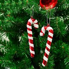 Candy Cane Decorations For Christmas Trees Hot Sell 60 Pcs Christmas Candy Cane Ornaments Festival Party Xmas 31