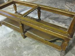 glass coffee table makeover woodgrain coffee tabl on diy coffee table images home ideas