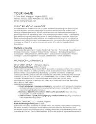 Sample Public Relations Manager Resume Sample Public Relations