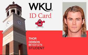 Best University Fake Kentucky Ids Western Idviking Student Wku Id - Scannable