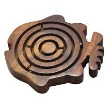 Wooden Maze Games Large Wooden Wood Labyrinth Marble Ball Maze Board Game eBay 10
