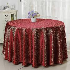 polyester jacquard hotel tablecloth round table cloth luxury wedding table cover big size solid color dining