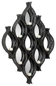 eclectic large black diamond mesh metal