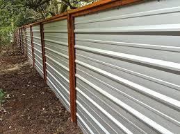 sheet metal fence panels incredible a galvanized corrugated creates clean modern edge ideas sheet metal fence corrugated cost designs