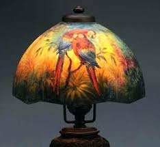 authentic tiffany lamp markings lamp markings reverse painted lamp shade photo courtesy of auctions antique lamp