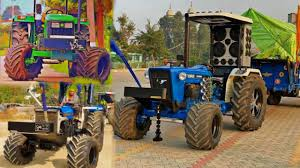 modified tractors stunts big tyres 71