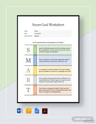 Smart Goals Template 9 Smart Goal Worksheet Templates Doc Pdf Free