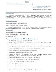 Sample Resume Of Electrician Journeyman Electrician Resume Resume ...