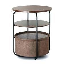 side table with wicker baskets side table with baskets coffee table with storage baskets 3 tier side table with wicker baskets