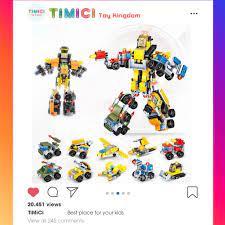 LG030]Đồ chơi lego shopee xếp hình TRANSFORMATION ROBOT mini