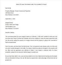 lease termination letter 6 free word