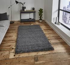 think rugs vista 2236 plain dark grey rug