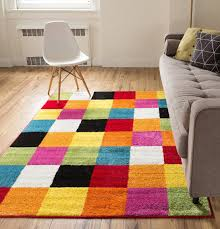 colorful area rugs for living room mohawk home rainbow multi stripe rug abstract modern collection contemporary geometric coffee tables white ikea woven mid