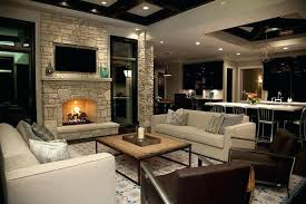 living room with stone fireplace with tv. Stone Fireplace With Tv Wall Niche Living Room I