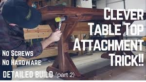 table top build genius method of attaching top to base woodworking how to tip trick