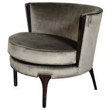 sophisticated midcentury modernist barrel back occasional chair