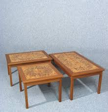 tile coffee table awesome a fabulous vintage retro danish teak and tile top coffee table by