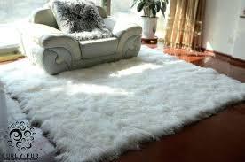 black mongolian sheepskin rug beautiful and luxurious modern decorative lamb white