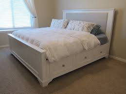 king storage bed plans. Gratifying White King Size Platform Bed With Drawers Storage Plans R