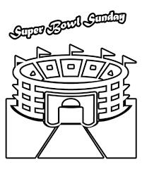 Simple Superbowl Coloring Pages Super Bowl 50 Carolina Panthers Vs