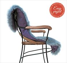 cozy faux fur pelt cut chair throw fabric depot