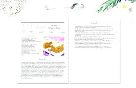 Recipe Book Layout Template Cookbook Free Format Download
