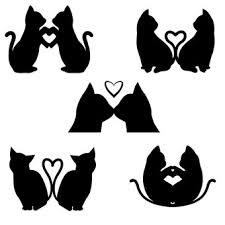 猫科シルエット イラストの無料ダウンロードサイトシルエットac