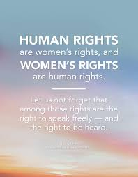 Womens Rights Quotes Stunning Human Rights Are Women's Rights And Women's Rights Are Human